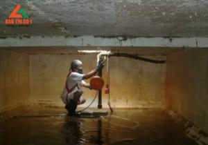 Thau rửa bể nước ngầm